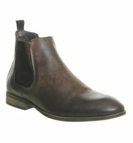 Ask the Missus Etta Chelsea Boot DARK BROWN NUBUCK
