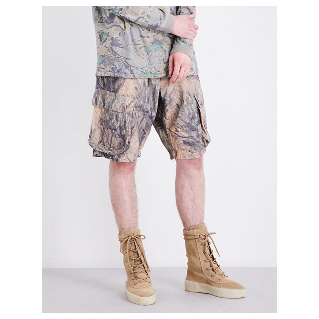 5f97e48c1 Yeezy Season 4 Forest-print cotton-jersey shorts