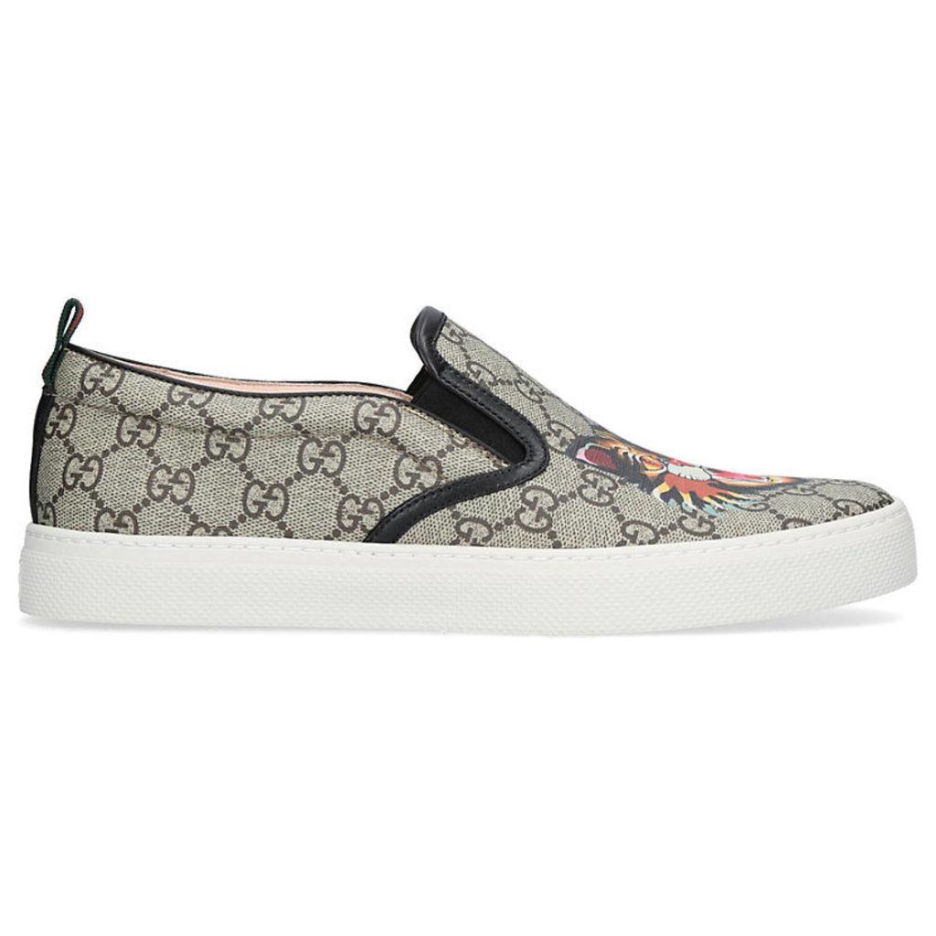 d9fb205378c Gucci Dublin tiger-print GG canvas skate shoes