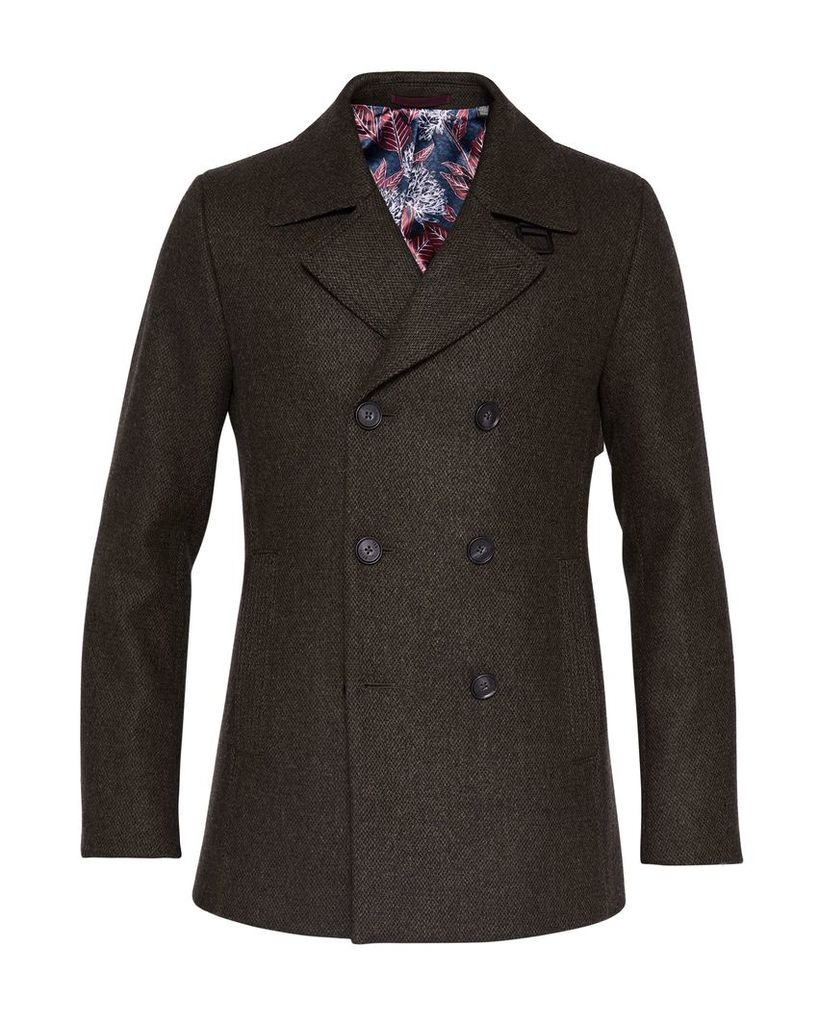 f87184a4ec0 Men's Ted Baker Zachary Wool Peacoat, Dark Green by Ted Baker | Snap ...