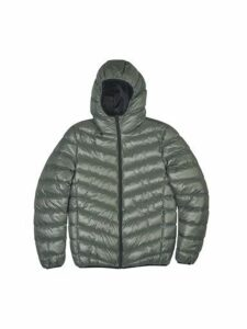 Mens Khaki Glacier Quilted Hooded Jacket, KHAKI
