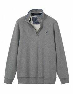 Classic Half Zip Sweatshirt In Grey Marl