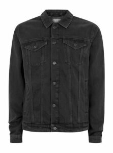 Mens Black Denim Jacket, Black