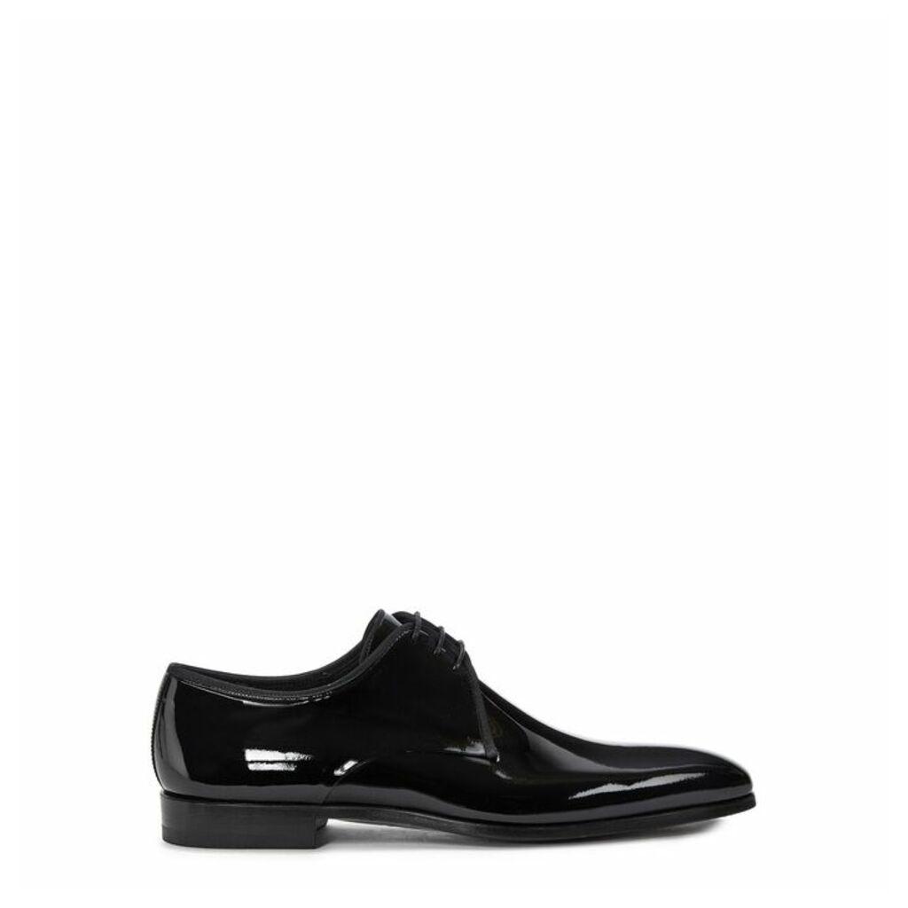 MAGNANNI Black Patent Leather Derby Shoes