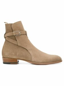 Saint Laurent Signature Wyatt 30 Jodhpur boots - Neutrals