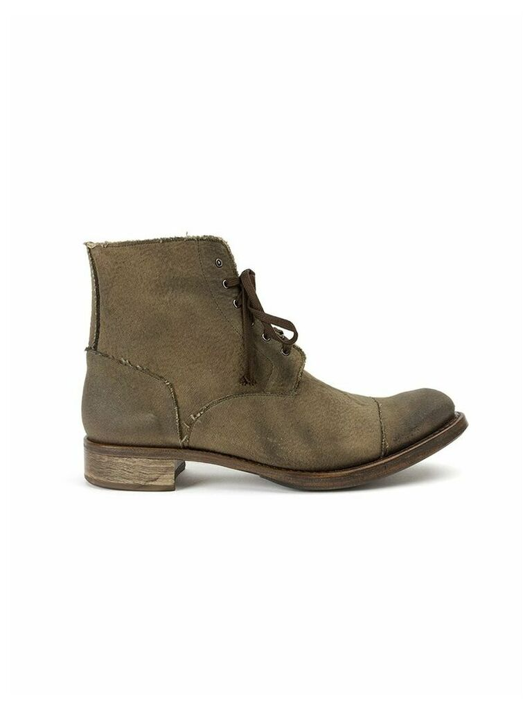 Cherevichkiotvichki raw edge boots - Green