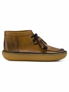 Prada tassel ankle boots - Brown