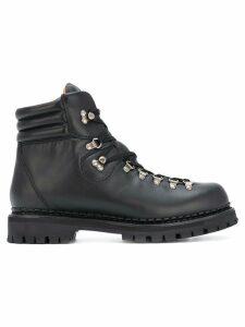 Gucci Web bee hiking boots - Black