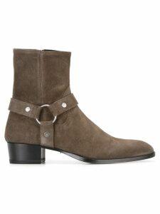 Saint Laurent Classic Wyatt 40 harness boots - Grey