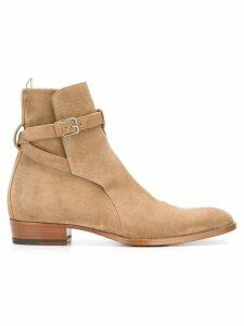 Saint Laurent Signature Wyatt 30 Jodhpur boots - Brown
