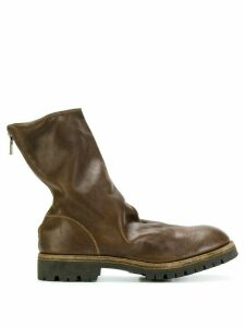 Guidi rear zip boots - Brown