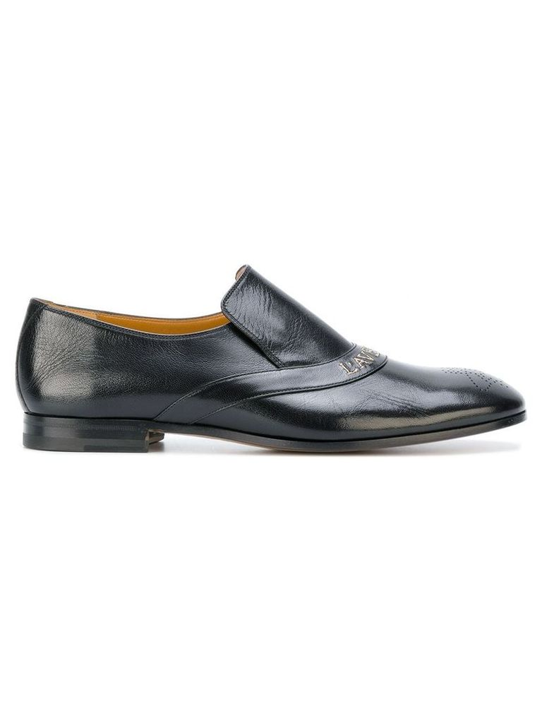 Gucci embroidered loafers - Black