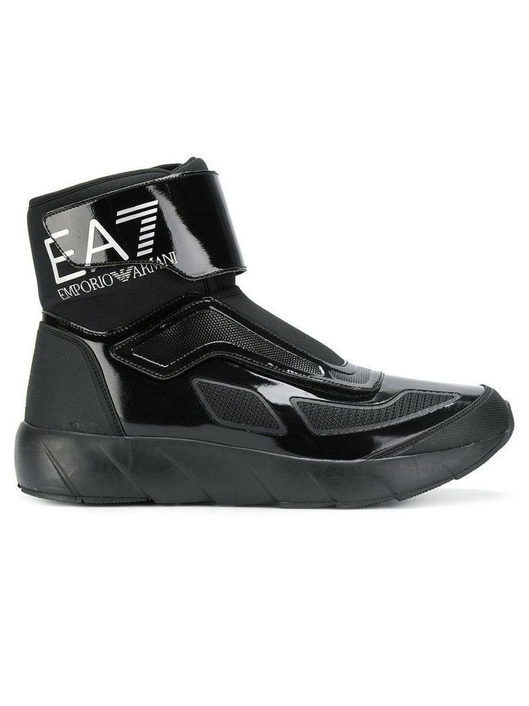 ede07fc9a01a2 Ea7 Emporio Armani patent space boots - Black by Ea7 Emporio Armani ...