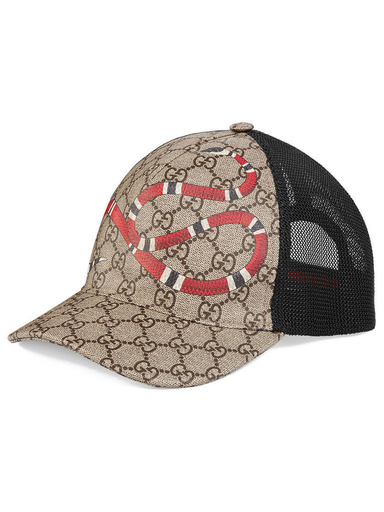 27f37866402 Gucci Kingsnake print GG Supreme baseball hat - Neutrals by Gucci ...