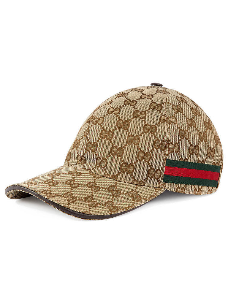 a54daca0aa9 Gucci Original GG canvas baseball hat with Web - Neutrals by Gucci ...