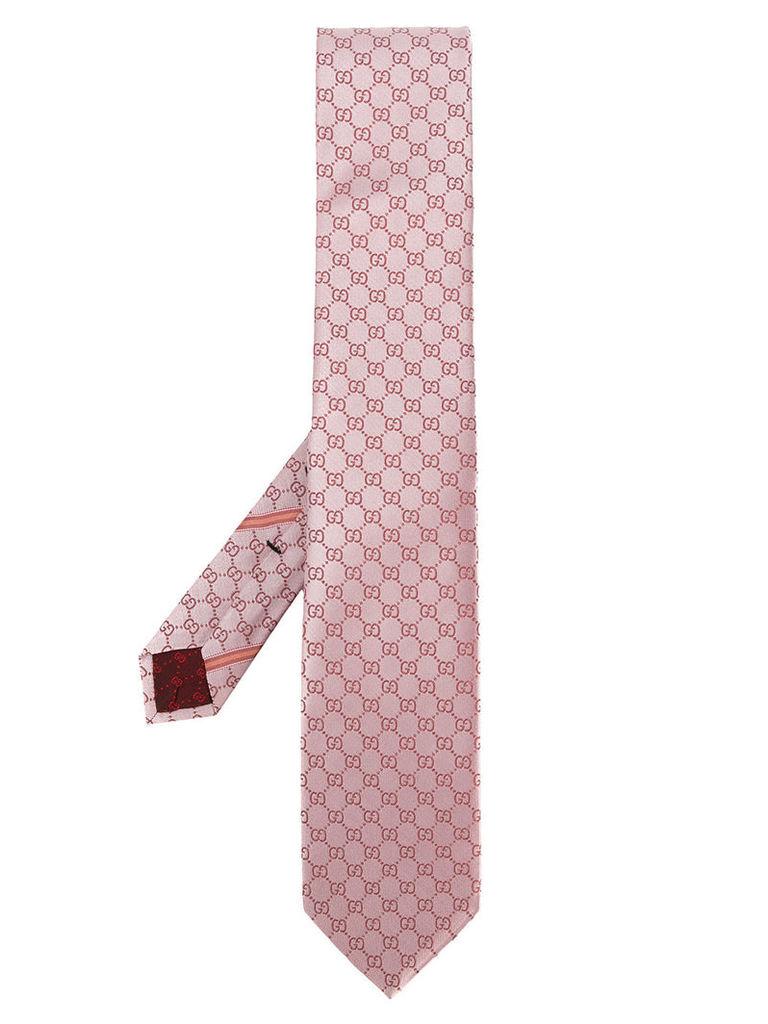 Gucci GG Supreme tie - Pink & Purple