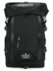 Makavelic double line backpack - Black