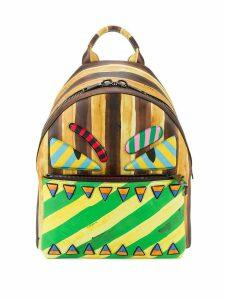 Fendi marker-style printed backpack - Multicolour