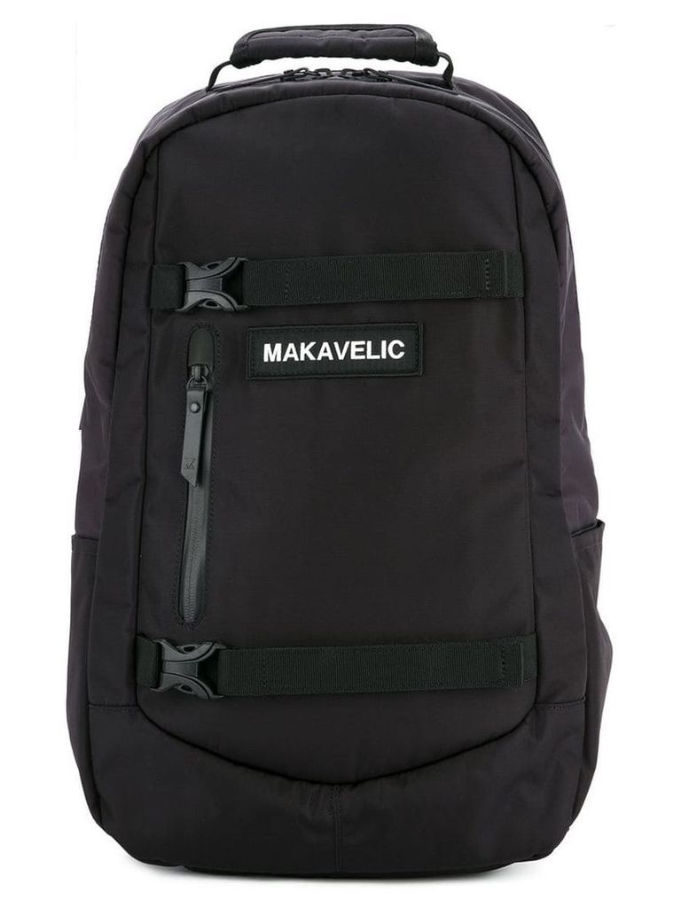 Makavelic push buckle fastened backpack - Black