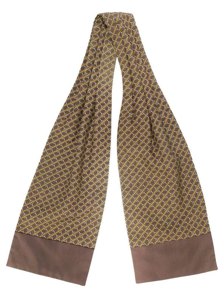 Hermès Vintage horsebit scarf - Brown