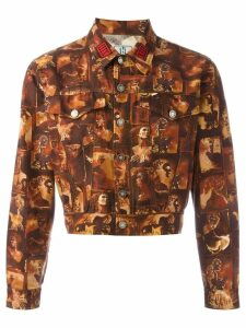 Jean Paul Gaultier Pre-Owned printed denim jacket - Multicolour