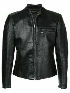 Fake Alpha Vintage 1970s Harley Davidson motorcycle jacket - Black