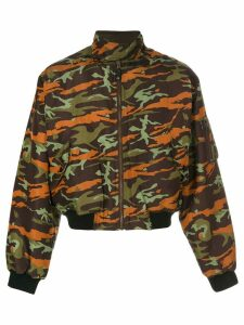Jean Paul Gaultier Pre-Owned padded bomber jacket - Brown