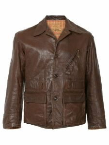 Fake Alpha Vintage 1940s leather jacket - Brown