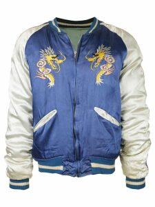 Fake Alpha Vintage 1950s reversible Souvenir jacket - Green