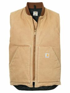 Fake Alpha Vintage zipped gilet jacket - Brown