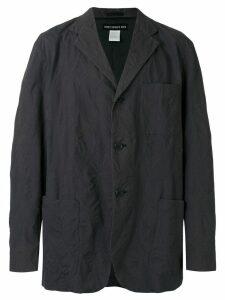 Issey Miyake Pre-Owned oversized swirl trim jacket - Grey