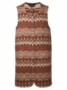 Comme Des Garçons Pre-Owned blanket gilet - Brown
