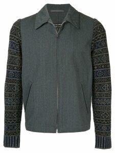Comme Des Garçons Pre-Owned patterned sleeve jacket - Green