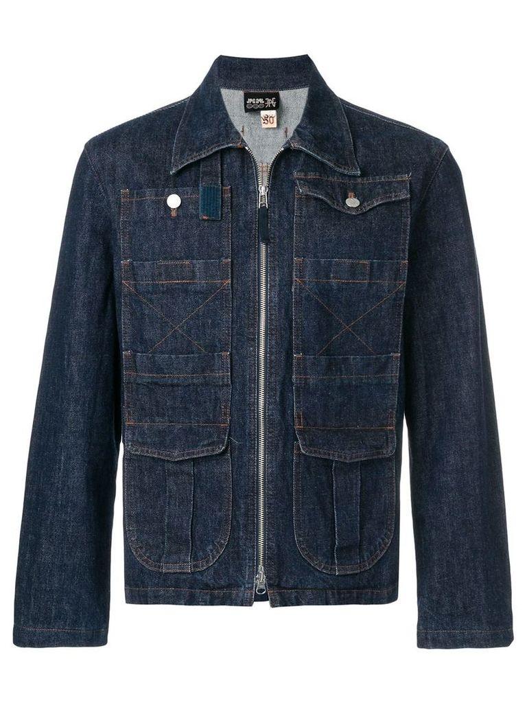Jean Paul Gaultier Vintage zip-through denim jacket - Blue