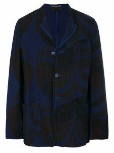 Comme Des Garçons Pre-Owned geometric print jacket - Blue