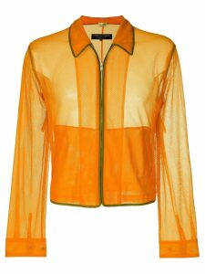 Comme Des Garçons Pre-Owned mesh jacket - Yellow