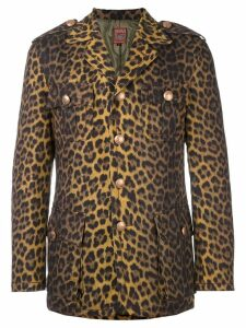 Jean Paul Gaultier Pre-Owned leopard print jacket - Brown