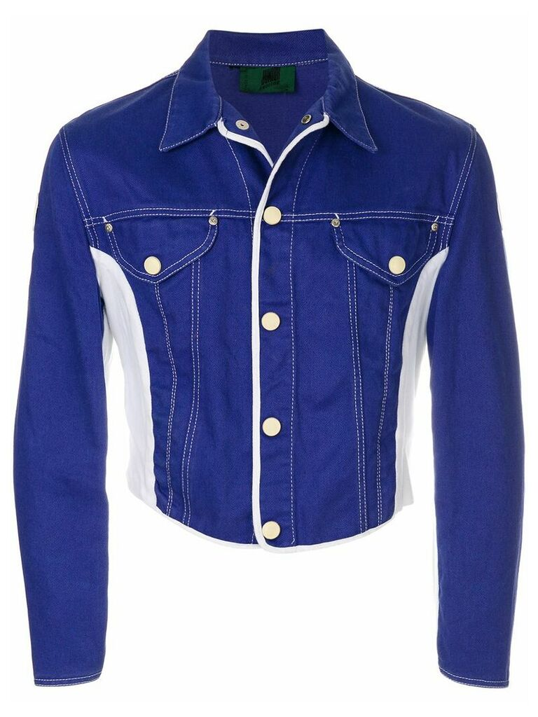Jean Paul Gaultier Vintage colourblock denim jacket - Blue