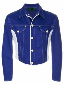 Jean Paul Gaultier Pre-Owned colourblock denim jacket - Blue
