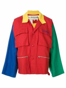 JC de Castelbajac Pre-Owned colour-block utility jacket - Multicolour
