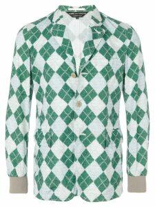 Comme Des Garçons Pre-Owned knit printed jacket - Multicolour