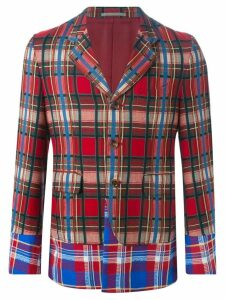 Comme Des Garçons Pre-Owned multi check jacket - Red