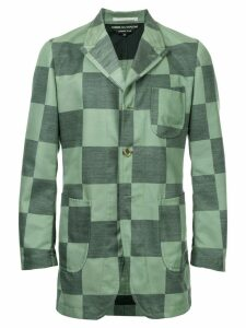 Comme Des Garçons Pre-Owned checkerboard jacket - Green