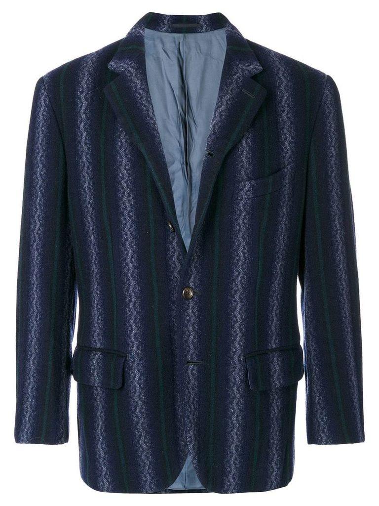 Comme Des Garçons Vintage striped jacket - Blue