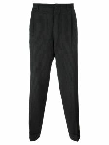 Romeo Gigli Pre-Owned pinstripe tapered trousers - Grey