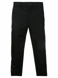 Comme Des Garçons Pre-Owned paint splattered cropped trousers - Black