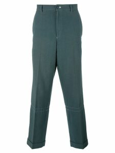Comme Des Garçons Pre-Owned loose-fit tapered trousers - Grey