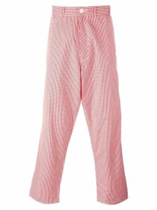Comme Des Garçons Pre-Owned gingham check trousers - Red
