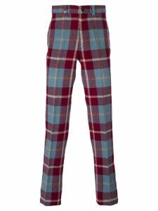 Jean Paul Gaultier Pre-Owned straight leg tartan trousers -