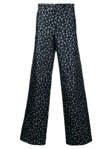 Comme Des Garçons Pre-Owned polka dot wide leg trousers - Blue